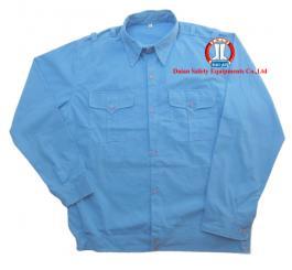 Áo BH vải si xanh HB cotton DT + CT
