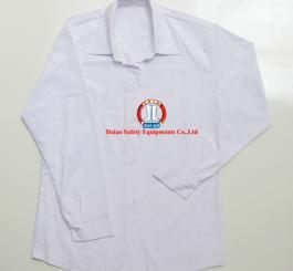 Áo bếp vải kaki cotton trắng nữ DT (kiểu áo CN)