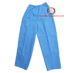 Quần blu vải lon (thô) TQ trắng + xanh may thường