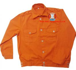 Áo bảo hộ vải kaki LDHQ màu cam (kiểu ĐL)