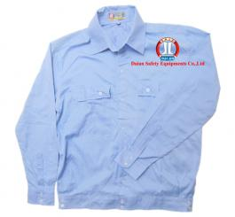 Áo bảo hộ vải kaki cotton mỏng màu xanh HB DT