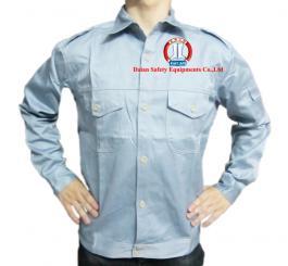 Áo BH vải kaki Nhật dày cotton mầu ghi đá+hải quân xanh tím+hải quan+ghi sáng,màu be vàng(pha)(kiểu VT)