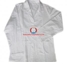 Áo CN vải lon (thô) trắng + xanh TQ ( nam, nữ DT + CT ) may thường