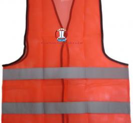 Áo phản quang Asafe Ấn độ mầu cam , PQ 2 sọc ghi - A36003