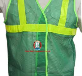 Áo phản quang màu xanh- lưới vải VN ( kiểu MT) L1