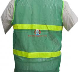 Áo phản quang màu xanh - lưới vải VN (kiểu MT) L1