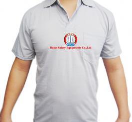 Áo phông vải dệt kim lỳ, cổ bẻ, CT ( mầu trắng+tím than+xanh dương+ghi )