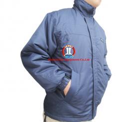 Áo rét 3 lớp vải vinilon màu tím than