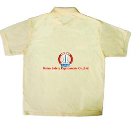 Áo phông vải dệt kim tổ ong cổ bẻ, CT (màu vàng cam chanh)