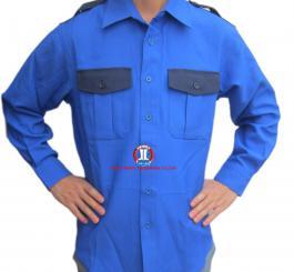 Áo bảo hộ vải kaki + thô pha + sẹc dày các mầu may XK (DT+CT) Kiểu sơ mi