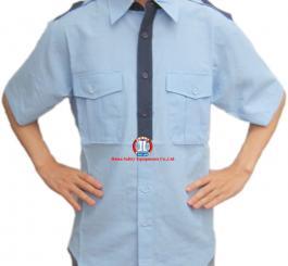 Áo BH vải kaki + Thô pha + sẹc dày các mầu may XK ( DT+CT) Kiểu sơ mi