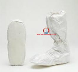 Bao giày vải tĩnh điện Vinilon trắng kẻ TQ