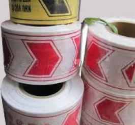 Dải chắn đường nilon (100m/cuộn) loại 2 lớp ( mầu trắng đỏ hoặc đen vàng )