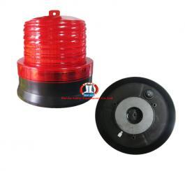 Đèn tín hiệu (đèn quay) nhỏ, gắn nam châm, dùng năng lượng mặt trời