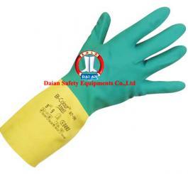 Găng cao su chống acid Malaysia mã 86 + 2 mầu