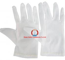 Găng dệt kim trắng tĩnh điện vải thun sẹc (may kỹ, rộng)