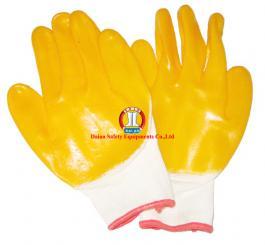 Găng sợi tráng nhựa ĐL mầu vàng chống trơn, h/chất