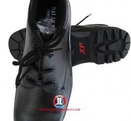 Giày da đen thấp cổ đế XP xịn, chữ đỏ