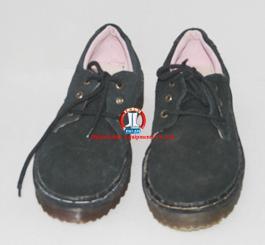 Giày da lộn thấp cổ đế kếp/đế cao su đen