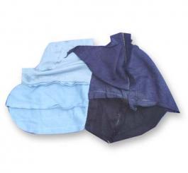Giẻ lau màu nhỡ + can (15 x 25) - Vải đông xuân cotton
