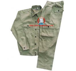 Quần áo bảo hộ kaki Nhật dày cotton túi hộp (màu ghi sáng+ghi chì+cam+xanh dương )
