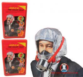 Mũ chống cháy Amiang Trung Quốc hình nam (mũ thoát hiểm phòng khói độc ) thở 30 phút
