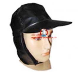Mũ da kẹp lông (đen)