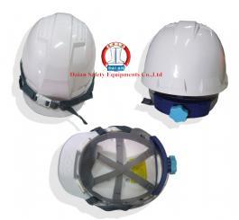 Mũ nhựa H.Quốc núm vặn có xốp L1 ( trắng + vàng cam )