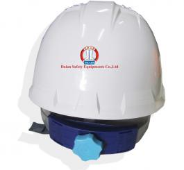 Mũ nhựa Hàn Quốc núm vặn có xốp L1 (trắng + vàng cam)