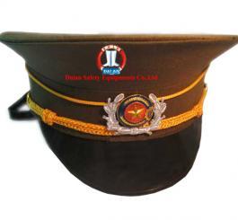 Mũ Kepi màu xanh rêu vải tuytsi (bảo vệ)