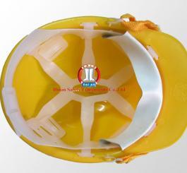 Mũ nhựa đi lò màu vàng VN ( có gài đèn )