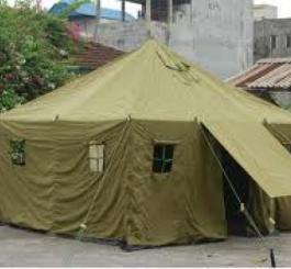 Nhà bạt trung đội ( R5,0 x D5,8 = 29 m2 )