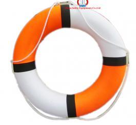 Phao tròn xốp LD (cam+trắng) cao cấp HD, loại đường kính 65 cm