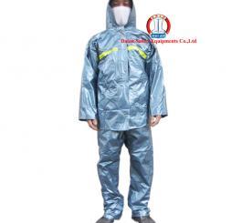 Quần áo chất cao su tráng  chống H.chất, acid mầu xanh nhũ