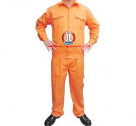 Quần áo kaki Nhật dày cotton màu cam (có tem ĐL, có túi hộp)
