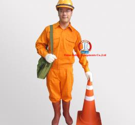 Quần áo kaki Nhật dày cotton màu cam (có tem ĐL, ko túi hộp)