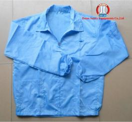 Quần áo vải tĩnh điện Vinilon trắng kẻ TQ ( bộ rời, hàng thường )