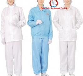 Áo blu vải tĩnh điện Vinilon trắng kẻ TQ ( Kiểu áo choàng )