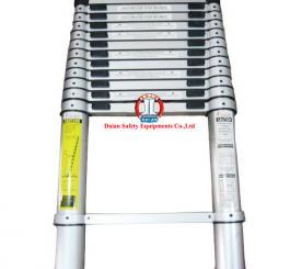 Thang rút nhôm ĐL cao cấp (ngang 0,49m ,  cao 3,8m, rút ngắn 0,8m, tải trọng 150kg)