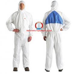 Áo liền quần giấy TYPE 5/6 3M - Mỹ mầu trắng chống hóa chất