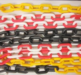 Dải chắn đường dây xích nhựa (3 màu: Trắng + đen + đỏ)