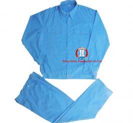 Quần áo bảo hộ si cotton mầu xanh dương + xanh hòa bình
