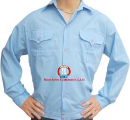 Áo sơ mi vải thô xanh HB (kiểu Bảo vệ)