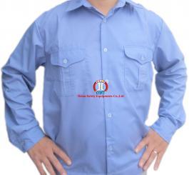 Áo BH vải thô xanh HB, dày (DT + CT)