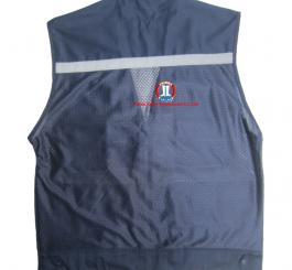 Áo gile 1 lớp có lưới & phản quang, vải kaki LDHQ ( mầu ghi ánh vàng+chì sẫm+vàng cam+xanh dương+cà phê sữa) )