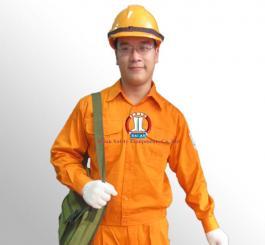 Áo BH kaki Nhật cotton dày màu cam (có tem ĐL)