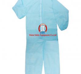 Áo liền quần giấy VN dày, màu trắng + xanh BH