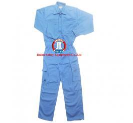 Áo liền quần vải kaki nhật dày có túi hộp, các màu ghi + xanh dương
