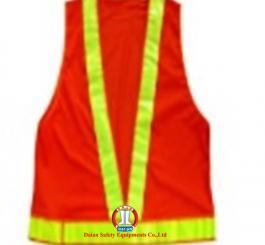 Áo phản quang màu đỏ - lưới nhựa TQ ( PQ chữ V)