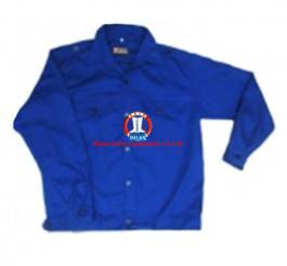 Áo BH vải kaki păng rim 2721 mầu ghi + xanh dương (kiểu VT)
